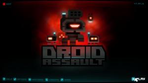 Hauptmenü in Droid Assault